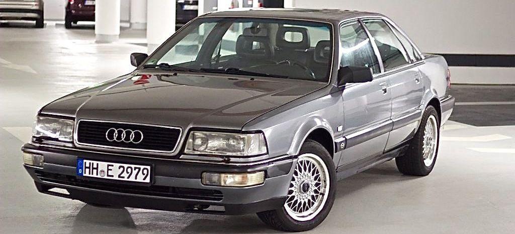 Das Rallyefahrzeug: Audi V8 3.6 von 1991 - mit kleinen optischen Mängeln, aber funktional
