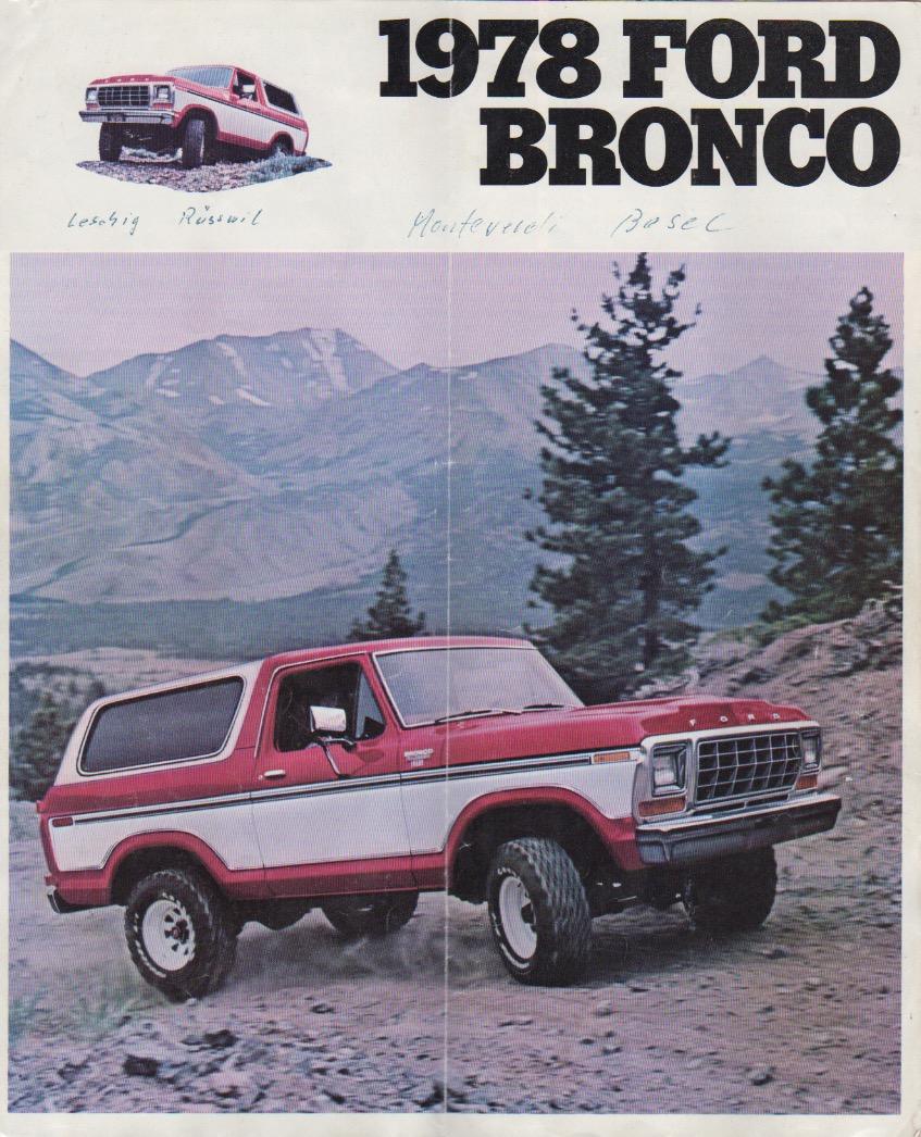 Deckblatt des original Prospekts von 1978. ©Ford Motor Company