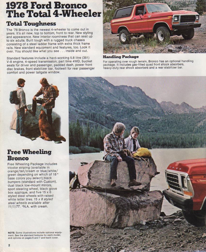 Seite 1 des original Prospekts von 1978. ©Ford Motor Company