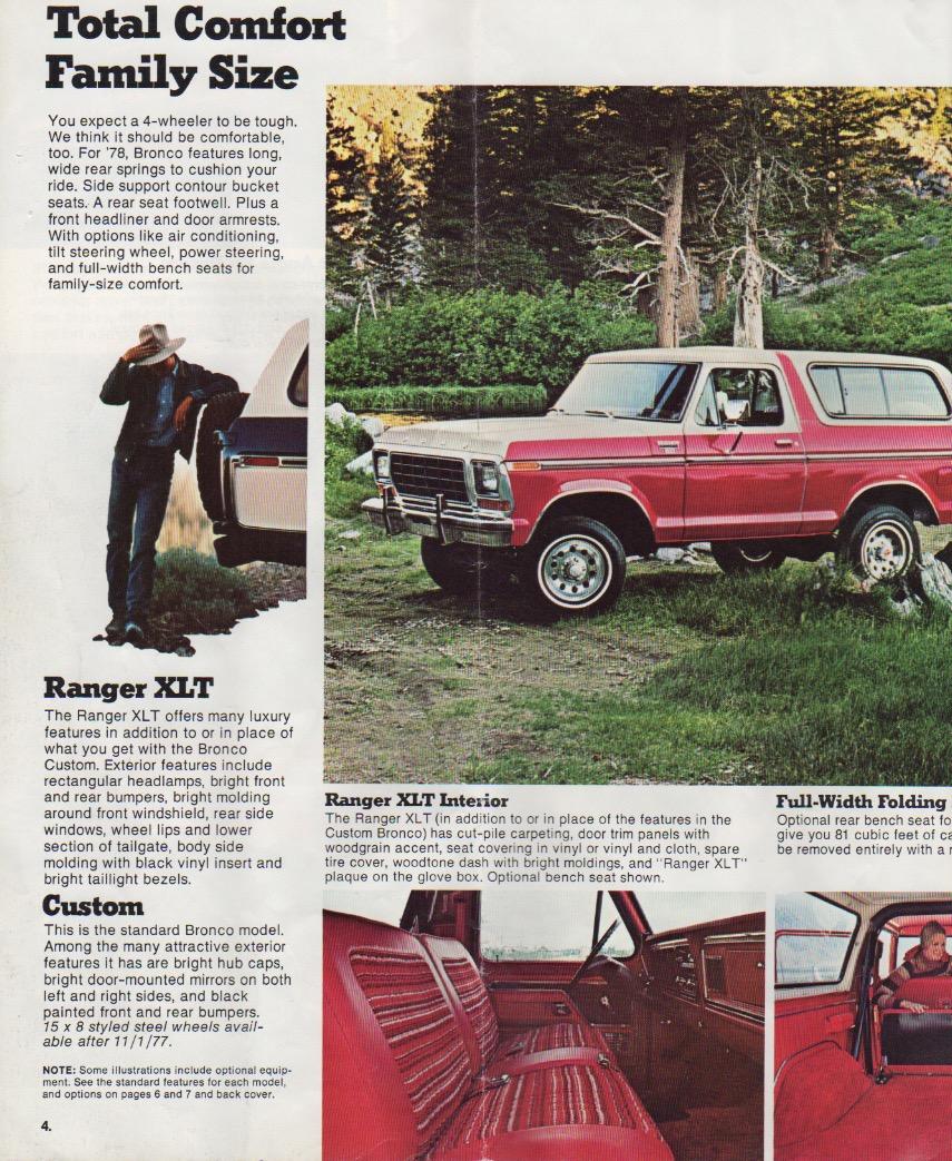 Seite 3 des original Prospekts von 1978. ©Ford Motor Company