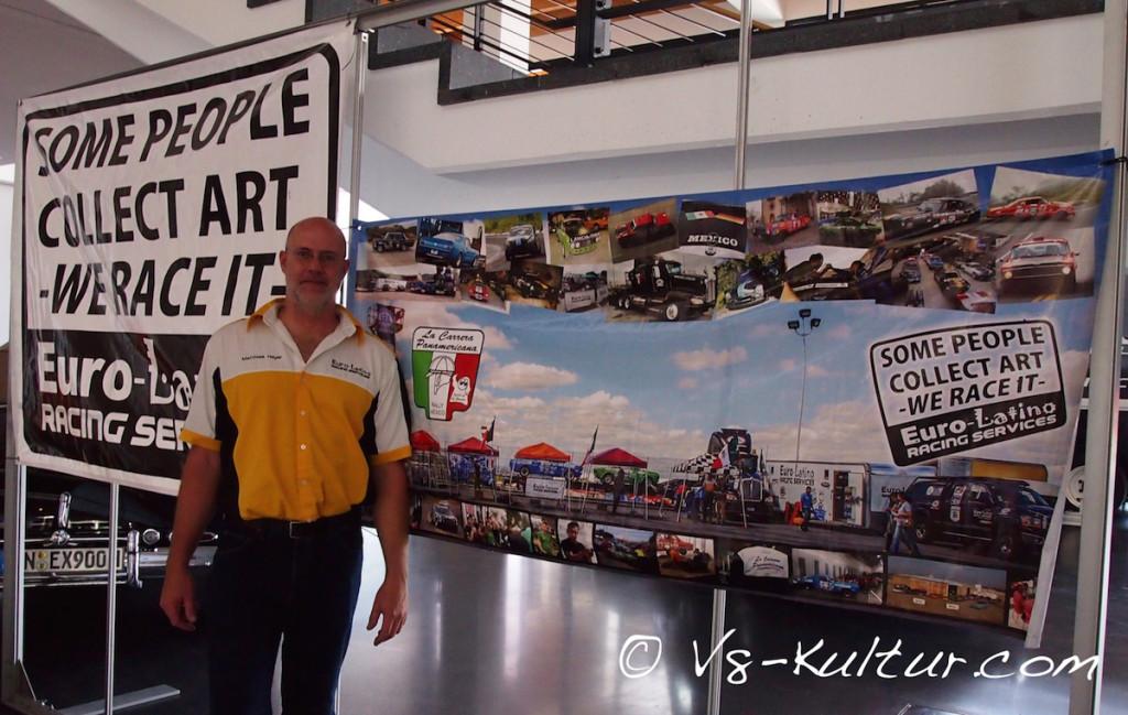 Matthias Heyer von Euro-Latino Racing Services aus Mexiko brennt für die Carrera Panamericana.