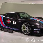 Der Porsche 918 Spyder kombiniert einen 608 PS starken V8 mit zwei Elektromotoren (je 143 PS). Er beschleunigt in 2,6 Sekunden von 0 auf 100 und ist somit der schnellste Seriensportwagen von Porsche mit Straßenzulassung.