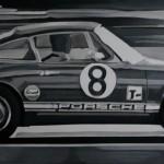 """Dieser Porsche zelebriert das Jubiläum """"50 Jahre Porsche 911"""" und hängt derzeit als Leihgabe im Automuseum Prototyp in Hamburg."""