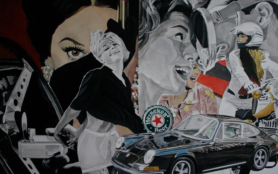 Aaron Vidal Martinez malt Porsche