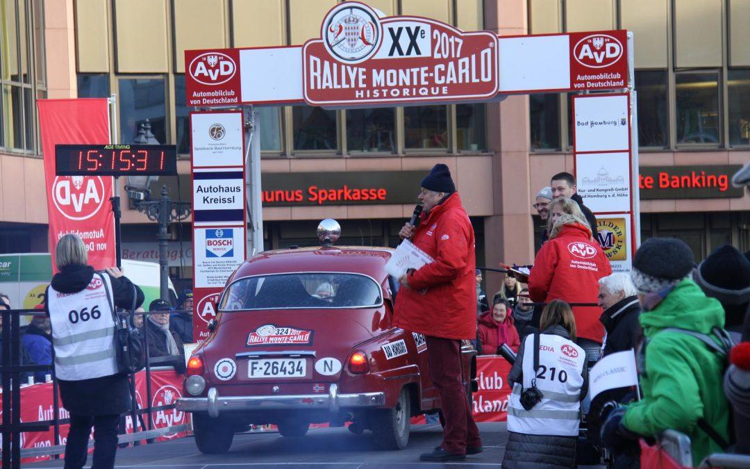 Start der Rallye Monte Carlo Historique 2017