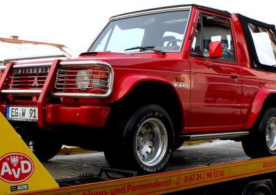 Der Mitsubishi Pajero Canvas Top L040 nach der Restaurierung