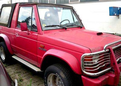 Der Mitsubishi Pajero Canvas Top L040 vor der Restaurierung