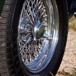 Felge des Aston Martin DB6 Vantage
